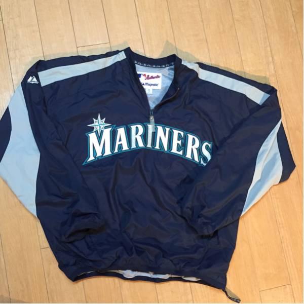 新品同様】シアトルマリナーズ MARINERS majestic製 プルオーバージャケット Mサイズ グッズの画像