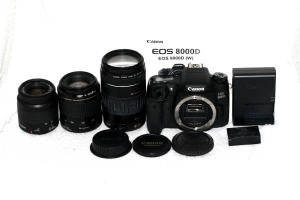 【取説付】Canon キヤノン EOS 8000D 300mm 超望遠 純正トリプルレンズ