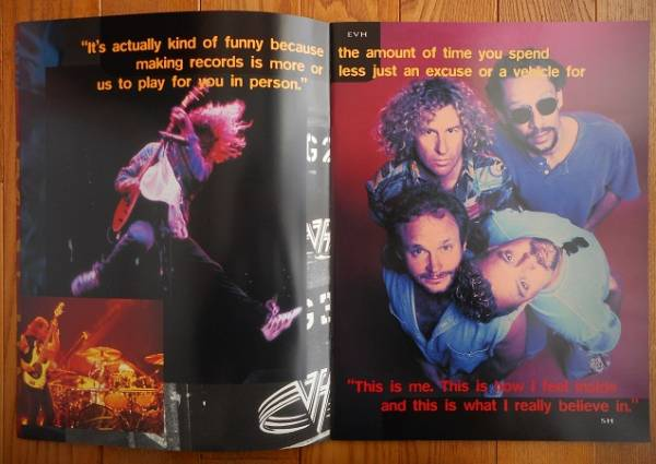 VAN HALEN「BALANCE」world tourツアーパンフレット1995-1996☆ ヴァン・ヘイレン(中古品)