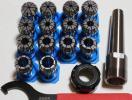 卓上旋盤 フライス盤 ER25コレットチャックMT3(MT2選択可)+コレット3mm~16mm フルセット