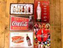A-14 送料¥178 ブリキ看板 コカコーラ ロゴマーク年代変遷 アイスコールド 等5枚