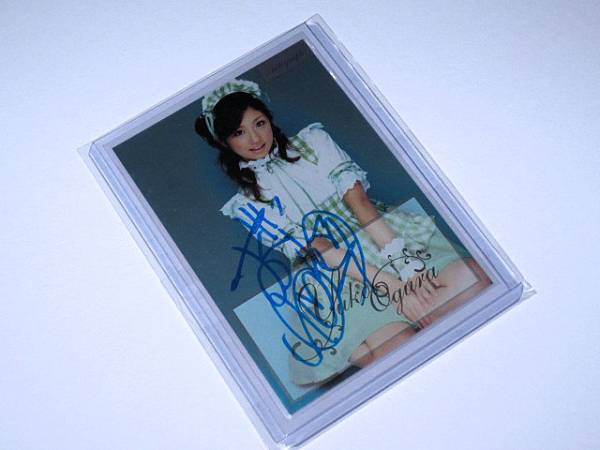 sabra 小倉優子 直筆サインカード Au-05 009/100 グッズの画像