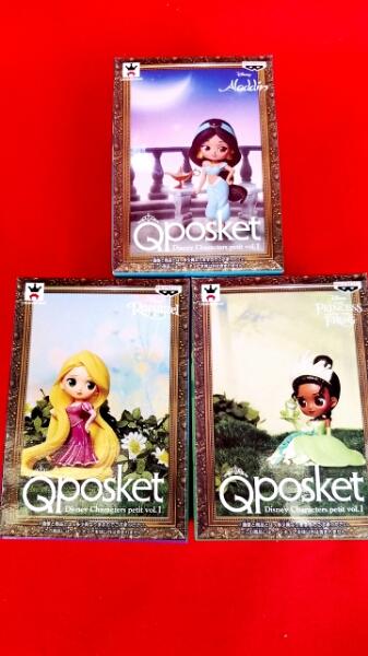 Disney ディズニー Qposket プチ Q posket Disney Characters petit vol.1 【ラプンツェル ・ジャスミン・ ティアナ] 全3種セット ディズニーグッズの画像