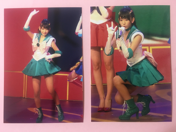 【HKT48 宮脇咲良】セーラームーン(ジュピター)写真2枚セット AKB48 紅白歌合戦