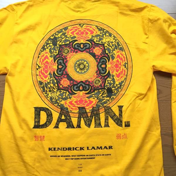 希少 米国オフィシャル 日本未発売 新品 kendrick lamar damn 長袖 シャツ THUNDERCAT supreme assc