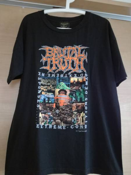 BRUTAL TRUTH Tシャツ S.O.B Napalm Death METALLICA ANTHRAX MEGADETH SUPREME SEPULTURA PANTERA SLAYER COCOBAT Slipknot carcass ライブグッズの画像