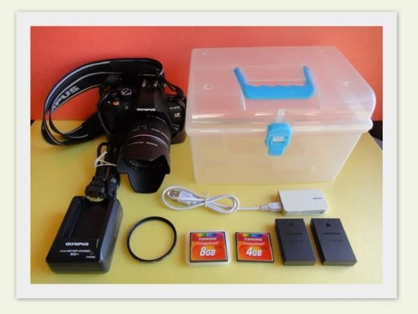 「送料込」オリンパス OLYMPUS E-620レンズキット(中古実用品)+オプション付属品