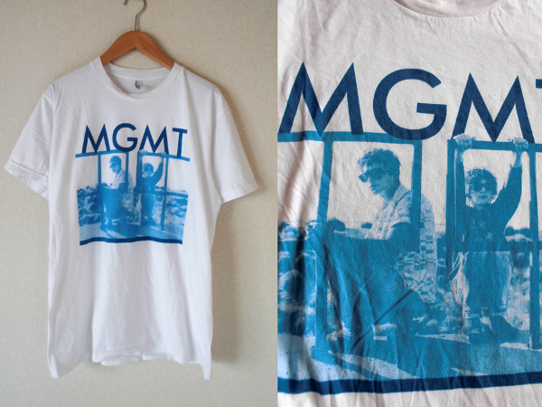 L/ MGMT★Tシャツ【アメリカンアパレル ツアー グッズ Arcade FireストロークスPhoenix Of Montreal