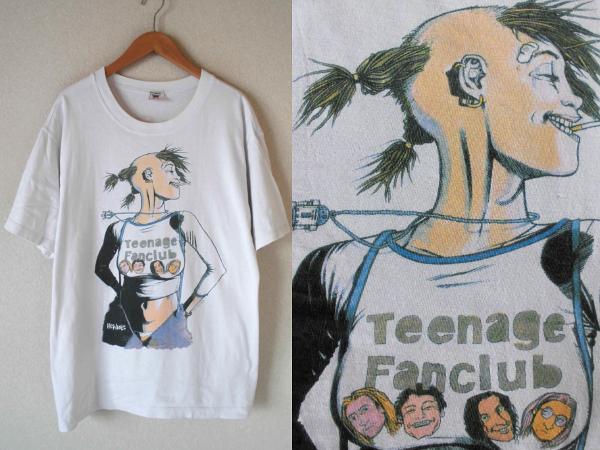 XL/ ティーンエイジファンクラブ×タンクガール★ビンテージTシャツ【90s usa製Teenage Fanclubトレインスポッティングnirvana sonic youth