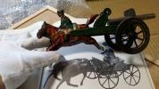 36【蔵出し】戦前物 馬で引く大砲 英国博物館展示品類似品