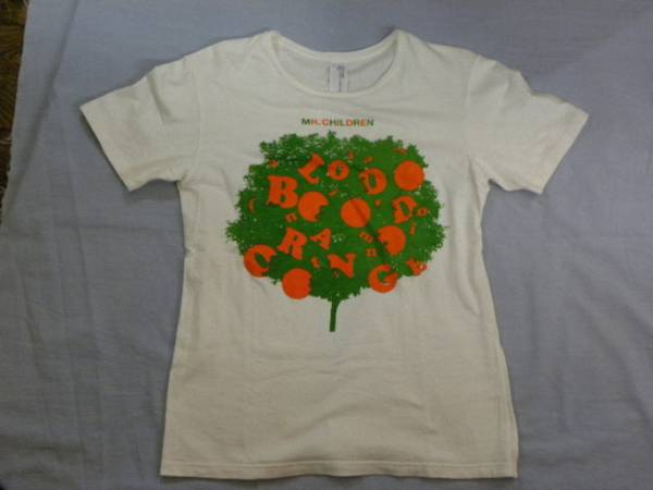 Mr.Children (an imitation)blood orange Tour ツアーTシャツ USED 白 サイズS ブラオレ