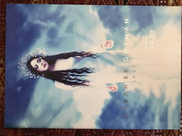 サラ・ブライトマン2001ワールドツアー『ラ・ルーナ』日本公演 4/25・26 NHKホール 40頁パンフレット