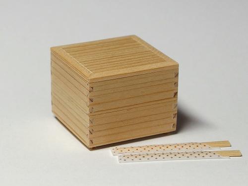 樹脂粘土ミニチュア☆1/6サイズ 行楽弁当・二段重_画像2