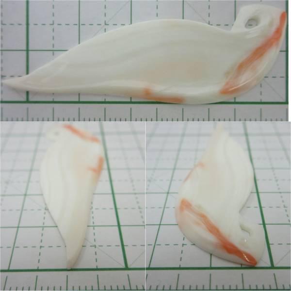 【TOP】珊瑚 サンゴ ルース 2.55g ペンダントトップ ネックレス タイピン ブローチ 根付 r692_画像3
