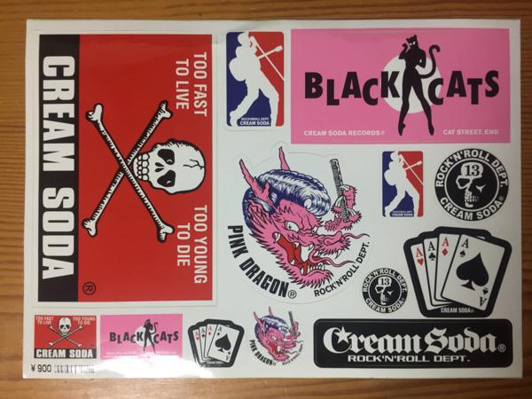 【CREAM SODA】ステッカー rock'n'roll dept blackcats pinkdragon クリームソーダ ロカビリー 原宿 渋谷 ライブグッズの画像