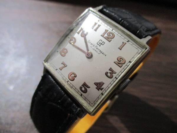 ジラール・ペルゴ ビンテージ スクェア(正方形) メンズ・マニュアル(手巻)ビジネス・ドレス兼用腕時計