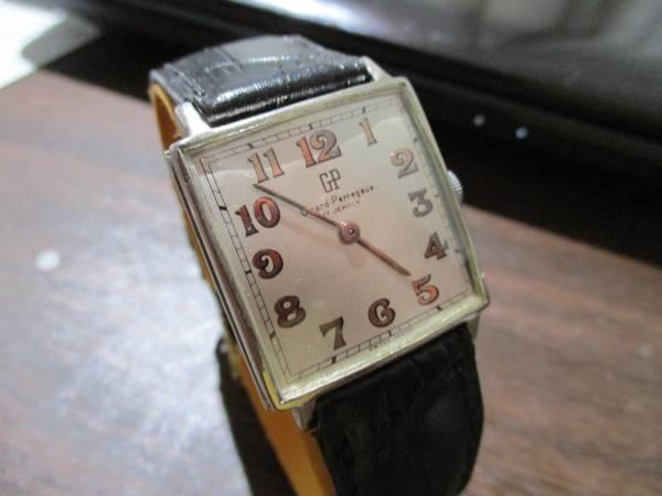 ジラール・ペルゴ ビンテージ スクェア(正方形) メンズ・マニュアル(手巻)ビジネス・ドレス兼用腕時計_画像2