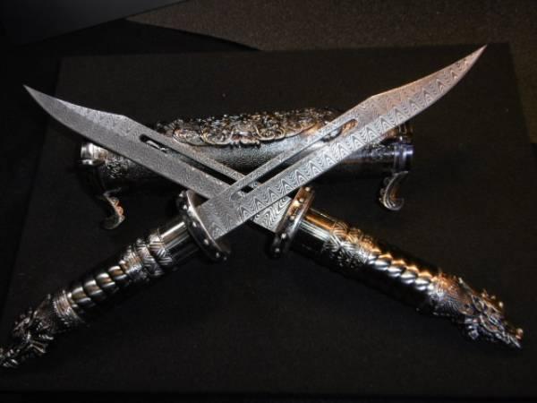 双龍刀 TWIN DRAGON 置物 オブジェ masuta-cut no104