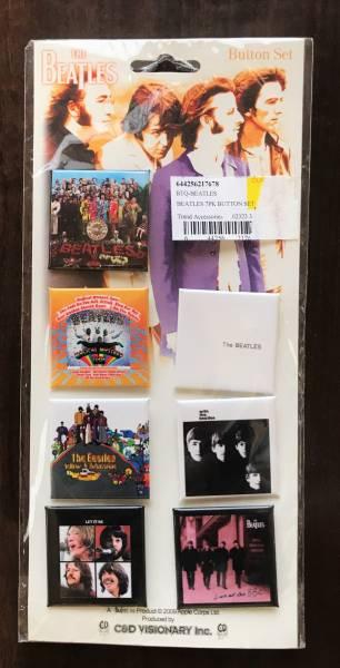 【貴重】 Beatles アルバム BUTTON 7点set (Made in USA)