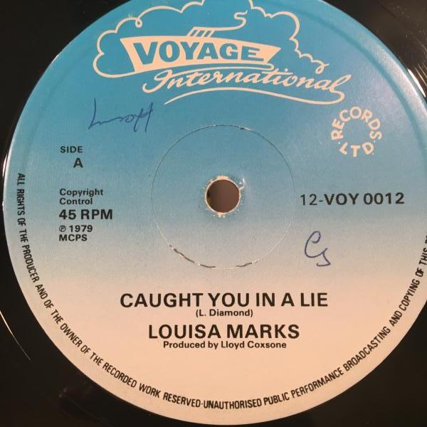 ★Louisa Marks/Caught You In A Lie★LOVERS!初リリース!