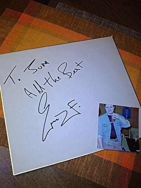 ベイ・シティ・ローラーズ、エリック・フォークナーのサイン(写真付き)