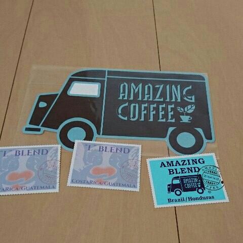 AMAZING COFFEE ステッカー&カード