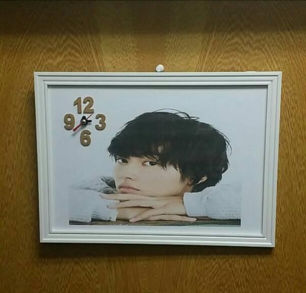 大人気 山崎賢人 フレーム時計 グッズの画像