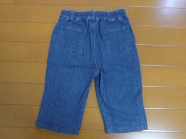 キラキラ ラインストーン付 デニムパンツ ズボン 110cm ★_後ろ側