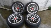 BBS RS-GT 18インチ 美品 バリ山タイヤ付き BBSナット付き レクサス