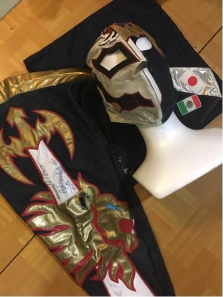 【貴重・本人使用】BUSHI・バリエンテ ハーフマスク タイツ付 新日本プロレス スーパージュニアタッグトーナメント使用済み ライブグッズの画像