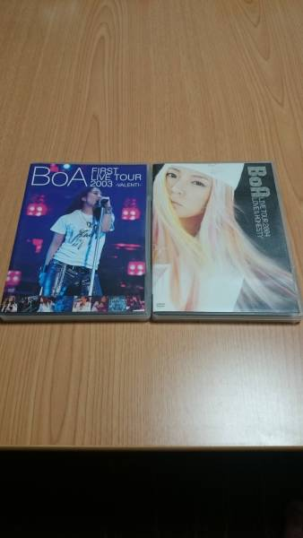 BoA FIRST LIVE TOUR2003 LIVE TOUR2004 DVD 2枚セット ライブグッズの画像