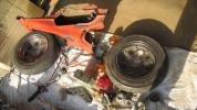 ダックス 70cc フレーム+エンジン 赤