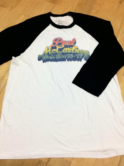 ポールマッカートニー ONE ON ONEツアーラグラン シャツ Tシャツ ビートルズ ライブグッズの画像