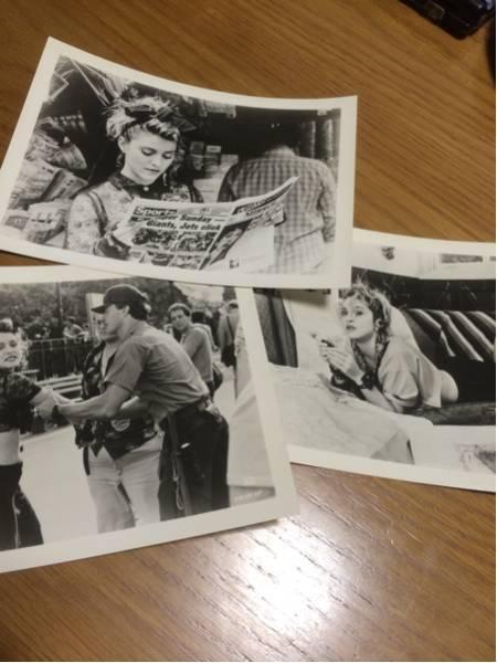 映画「マドンナのスーザンを探して(Desperately Seeking Susan)」ロビーカード3枚セット Madonna、Aidan Quinn ライブグッズの画像