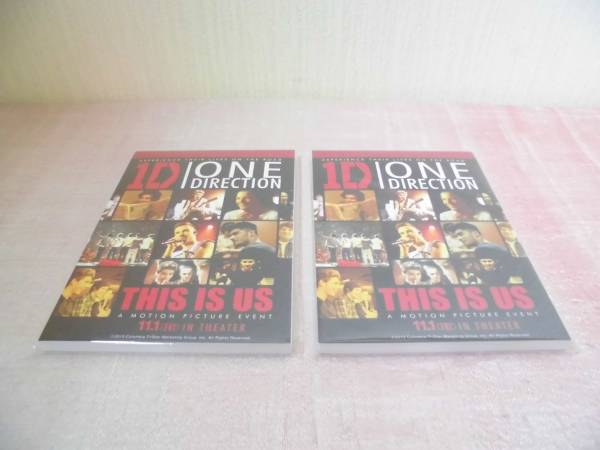 One Direction×ローソン当選品「THIS IS US メモパッド 2冊セット」