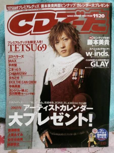TETSU69表紙★CDでーた①★tetsu★ラルクアンシエル