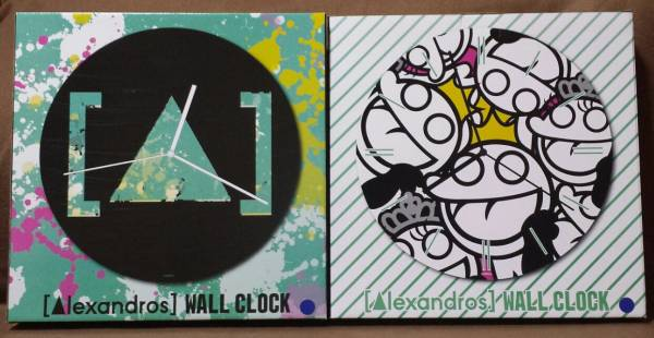 新品 Alexandros WALL CLOCK 全2種セット 壁掛け時計 アレキサンドロス ライブグッズの画像