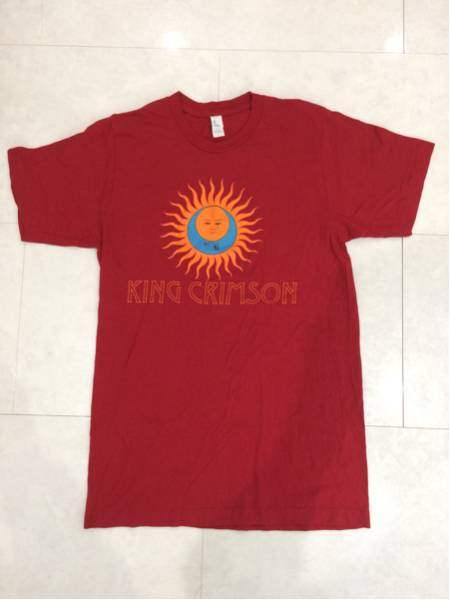 KING CRIMSON ロックT 太陽と戦慄 Sサイズ ワインレッド 美品 キング・クリムゾン