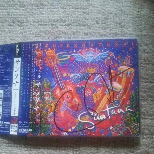 Santana/サンタナ直筆サイン入りCD