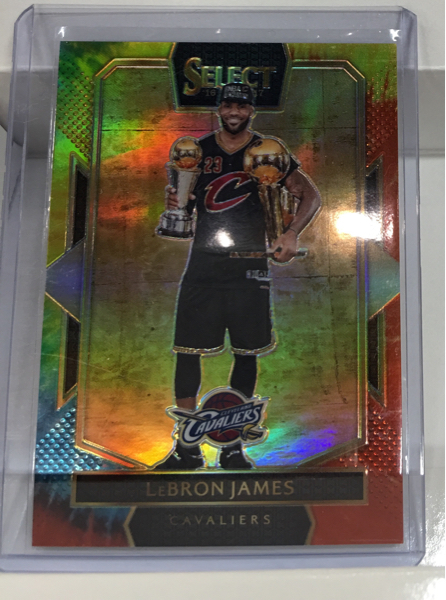 16-17 Select NBA LeBron James Cavs 06/25枚限定 Tie-Dye Prizm Courtside 超レア! Heat ジャーナン 6 グッズの画像