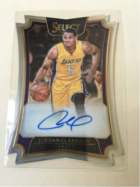 16-17 Select NBA 57/99枚限定 D-Cut Auto Jordan Clarkson Lakers 貴重品! グッズの画像