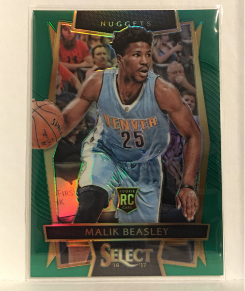 16-17 Select NBA Malik Beasley Nuggets RC 5/5枚限 Green Prizm レア! グッズの画像