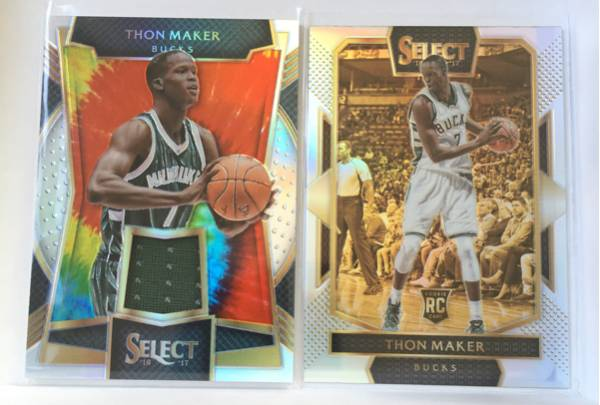 16-17 Select NBA Thon Maker Bucks 06/25枚限定 Tie-Dye Prizm Patch Courtside Prizm 貴重品! グッズの画像