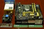 ◆ 美品・CPU,MB,メモリセット ◆ i3-4170,ASUS B85M-G,DDR3 1600 2G 2枚(4GB)