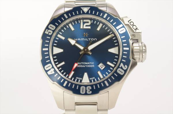→□ 新品 HAMILTON カーキネイビー オープンウォーター オート ダイバーズ H77705145 自動巻き 腕時計 メンズ_画像1