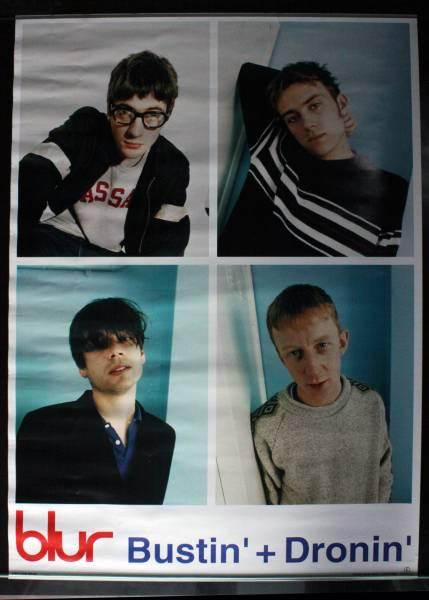 非売品★ 1998年 Blur Bustin' + Dronin' 日本独占発売アルバム販促ポスタ-★ 未使用品