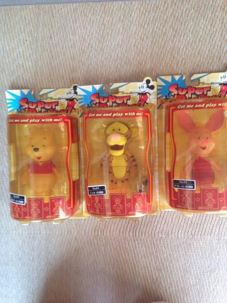スーパーロッキン プーさん、ピグレット、ティガー 未開封 ディズニーグッズの画像