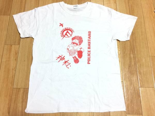 手刷り廃版Tシャツ(M)/Oledickfoggy/Police Bastard/オールディックフォギー