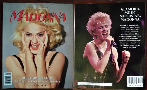 MADONNA マドンナ 写真集 1991年 HER COMPLETE STORY, AN UNAUTHORIZED BIOGRAPHY 洋書 英語 David James著 ライブグッズの画像