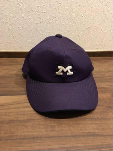 レア!明治大学硬式野球部 公式戦用 キャップ 帽子 六大学野球!イソノ製 美品!